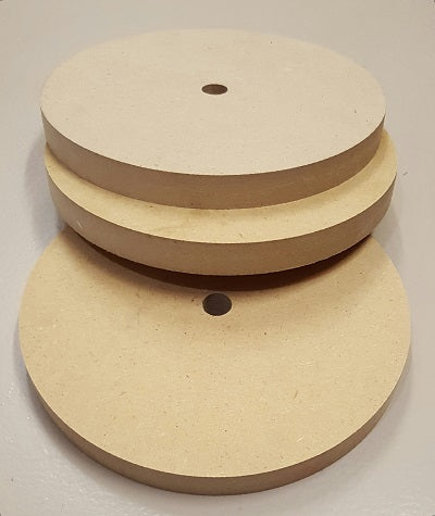"1740100 - MDF Wooden Wheel, 8"" x 3/4"", 5/8"" Bore, bigfoot-carving-tools, sharpening, buffing"