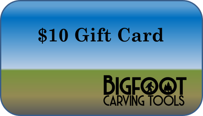 Gift Card, $10.00, bigfoot-carving-tools, Woodcarving, Carving