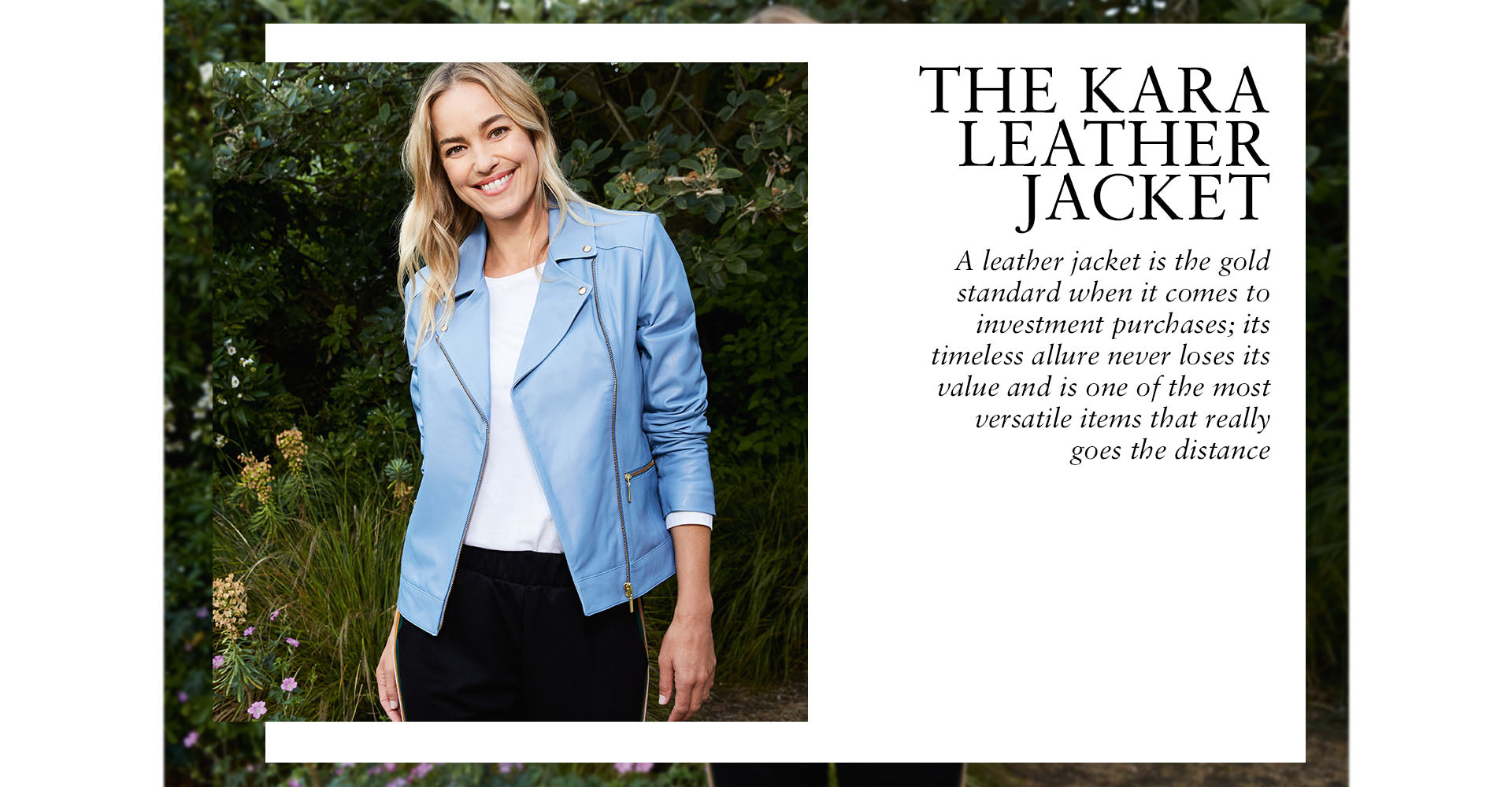 The Kara Leather Jacket