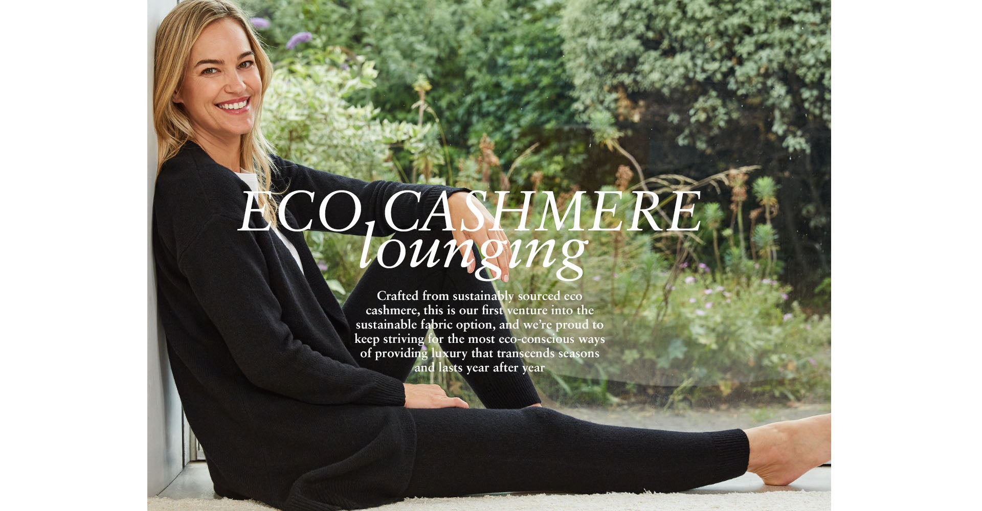 Eco-Cashmere Lounging