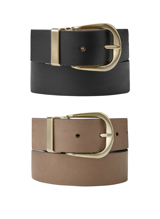 Baukjen Reversible Gold Buckle Belt
