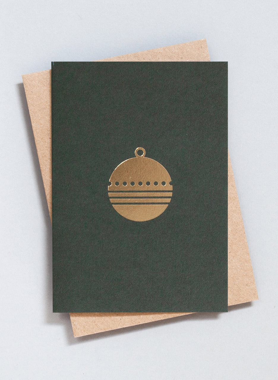 Ola Festive Foil Blocked Bauble Print Card