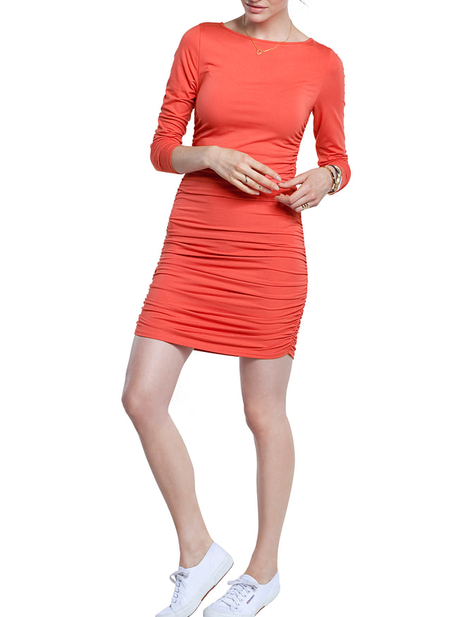 Ruched Jersey Dress