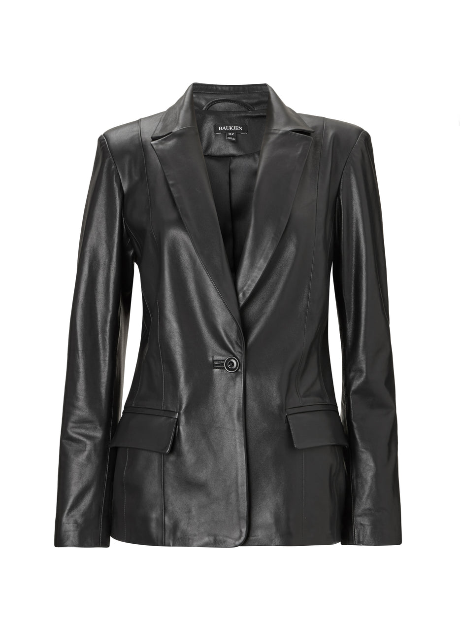 Everly Leather Blazer