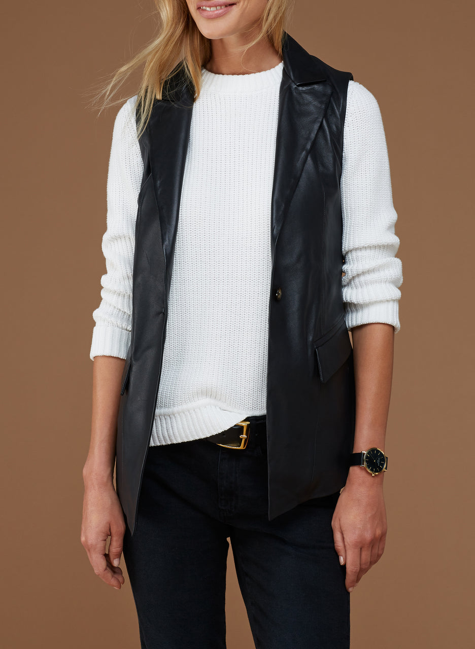Morris Leather Gilet