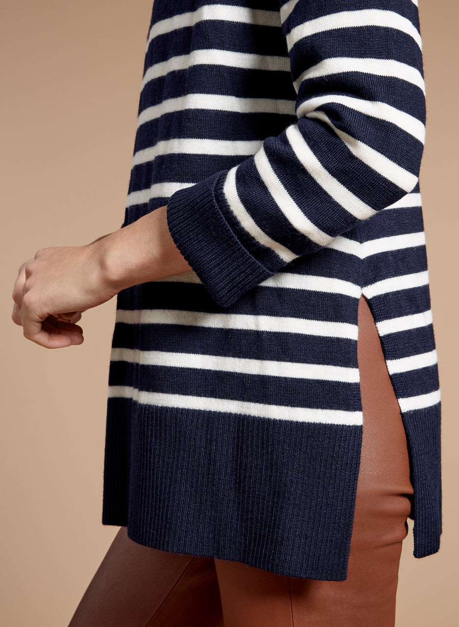 Josee Stripe Turtleneck