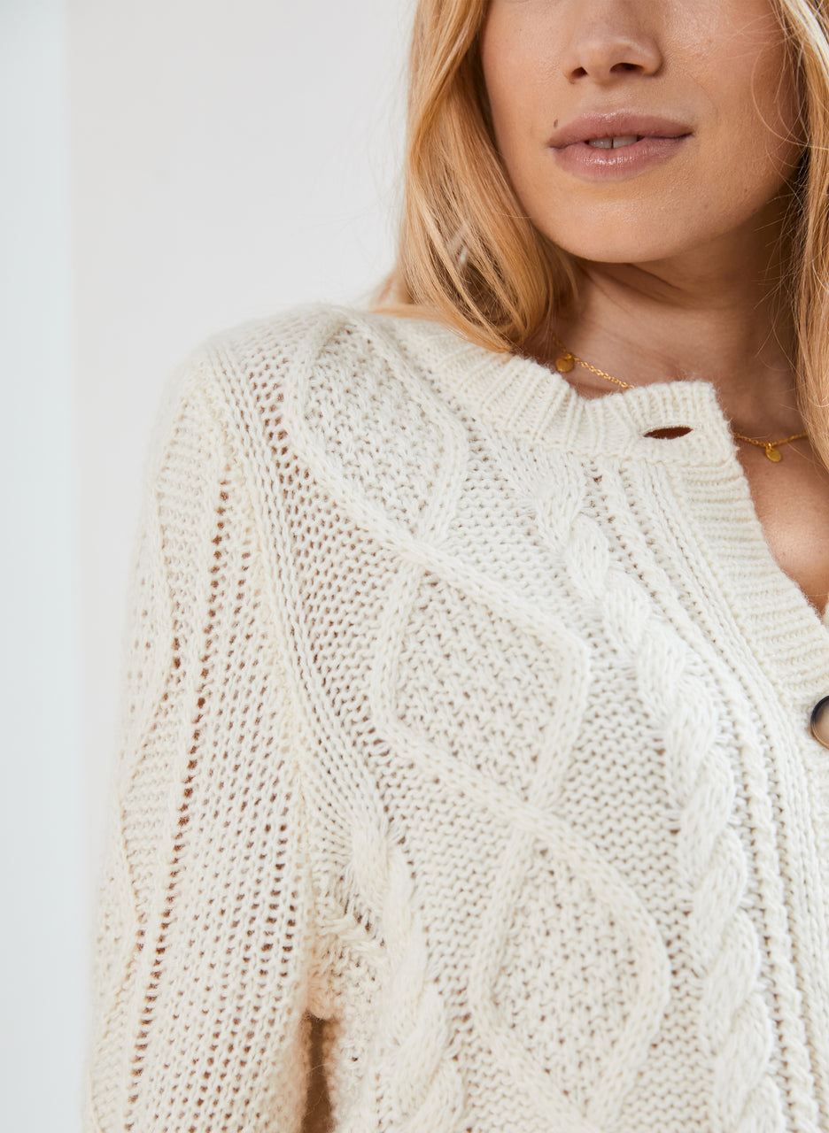 Margot Cable Cardigan
