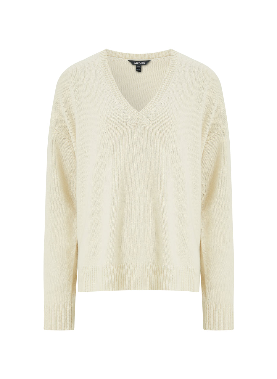 Darcy Eco Cashmere V-Neck Jumper