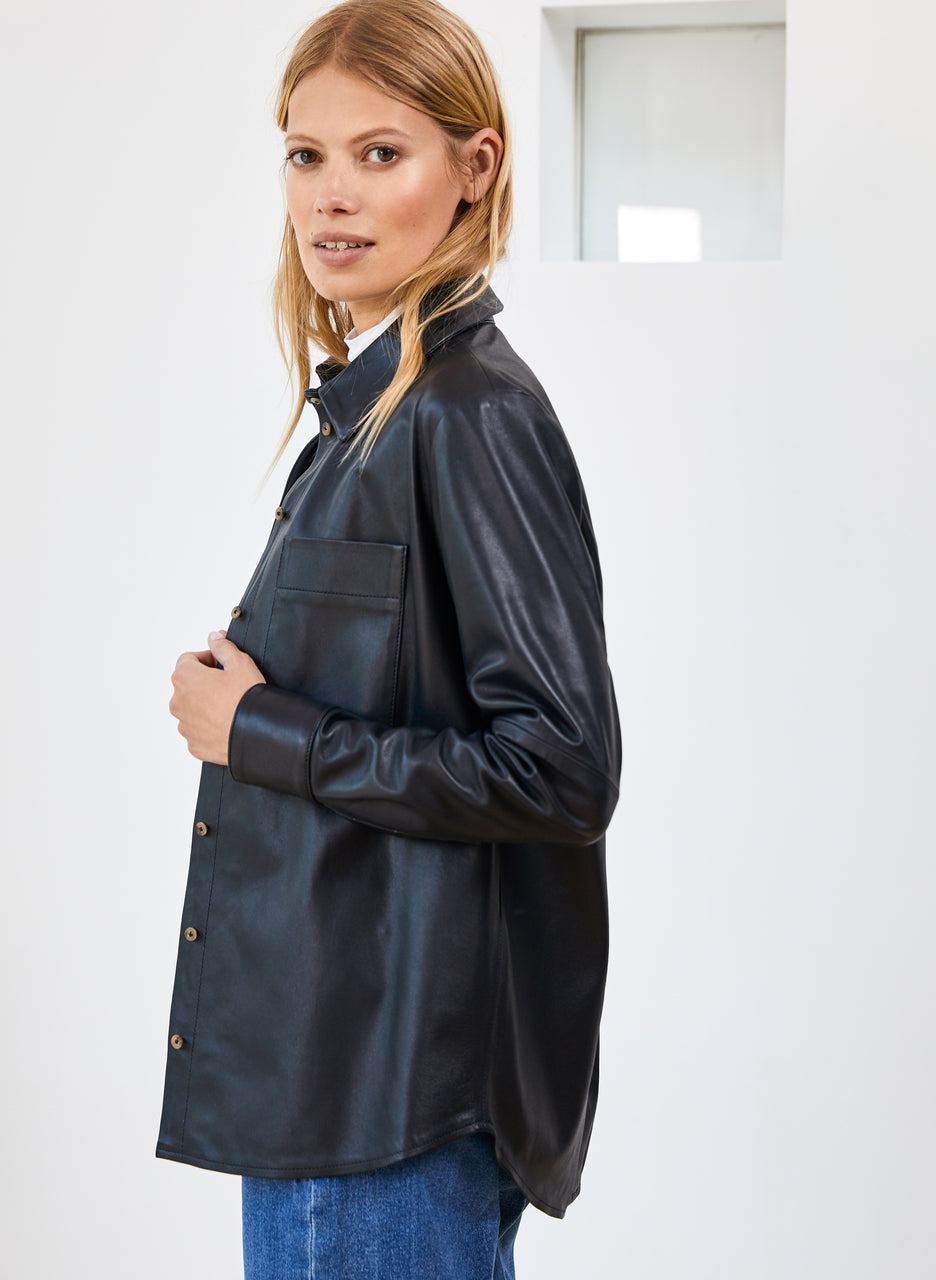 Rachel Leather Shirt