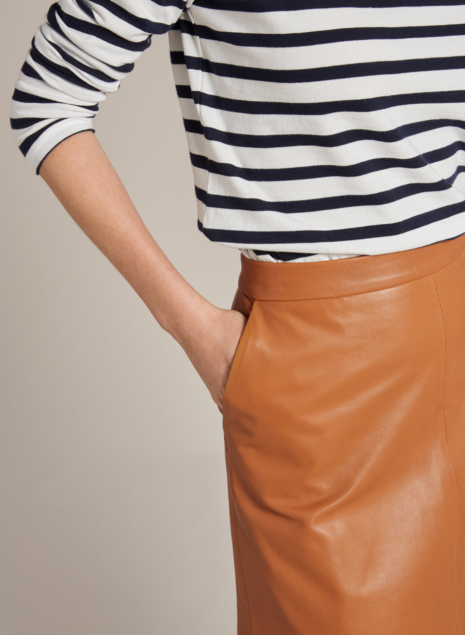 Kara Leather Skirt