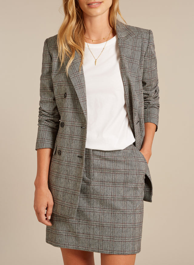 Mallory Checkered Skirt