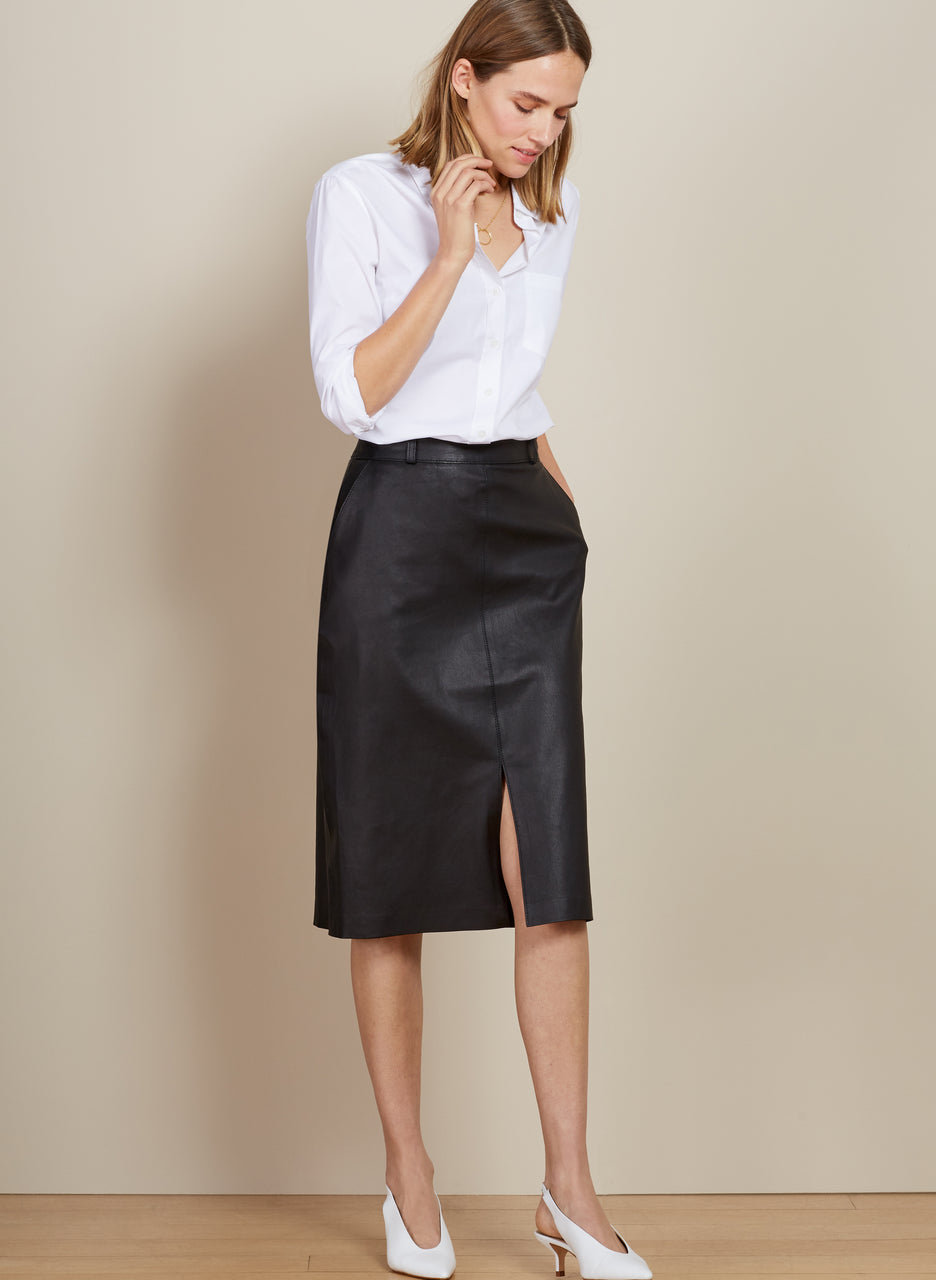 Flynn Leather Skirt