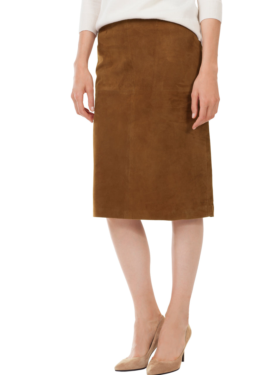 Alvie Suede Skirt