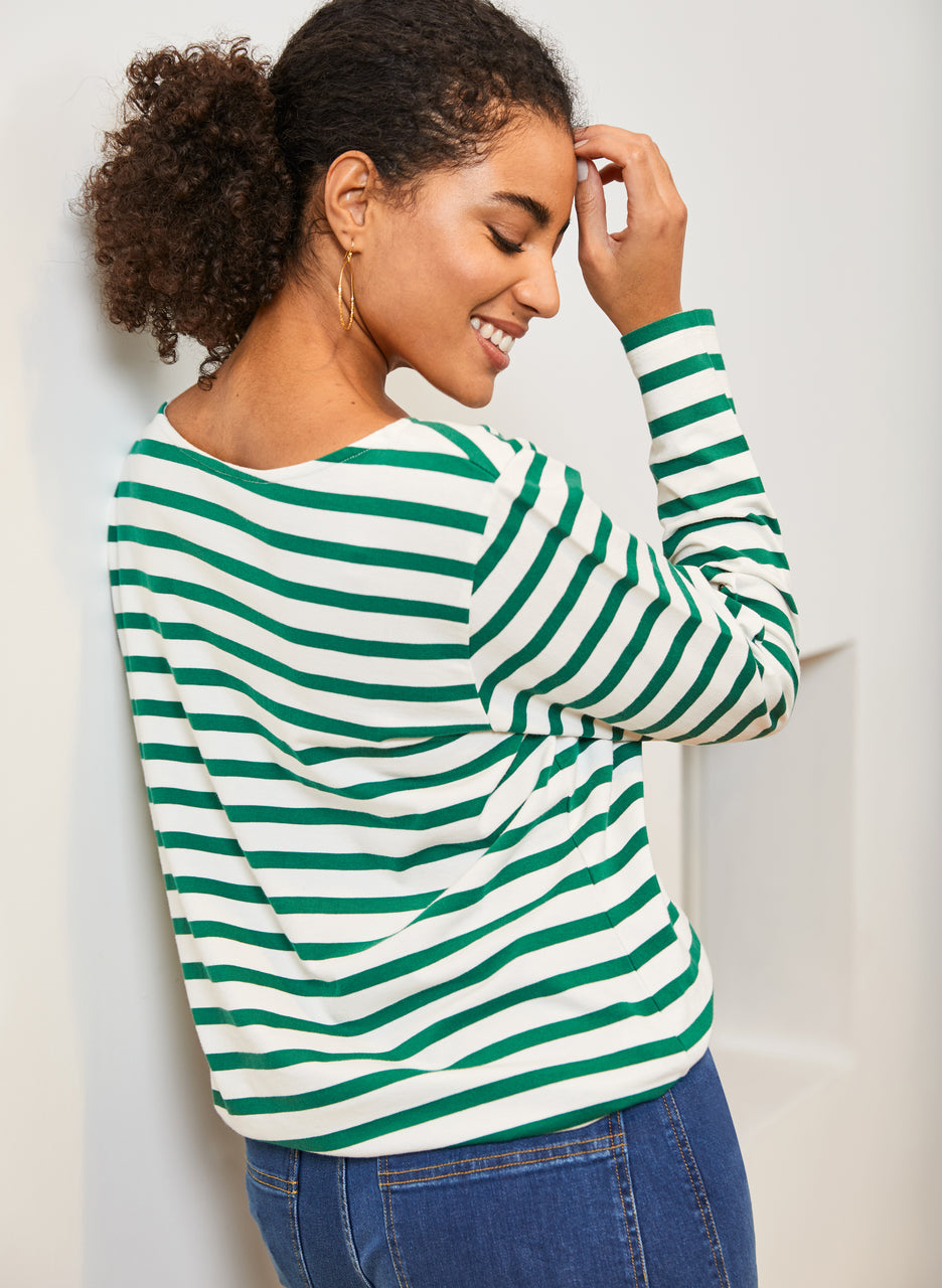 Emma Organic Stripe Top