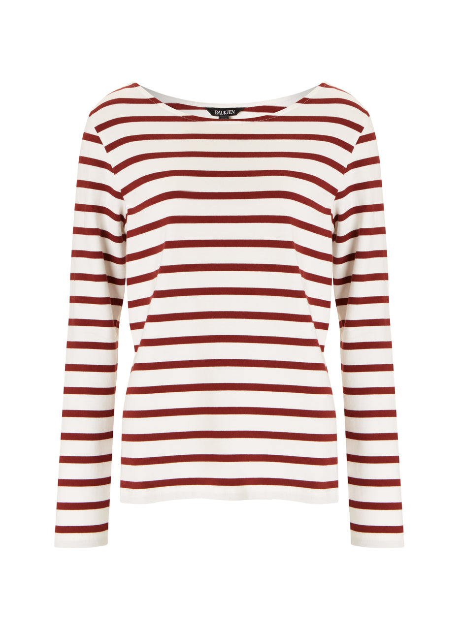 Emma Organic Cotton Stripe Top