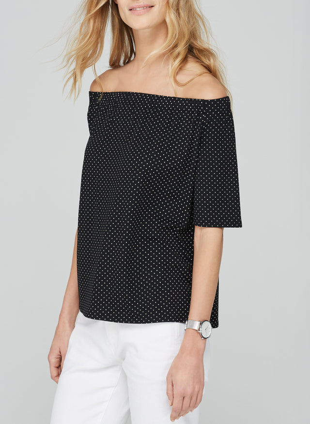 Marisol Off the Shoulder Print Top