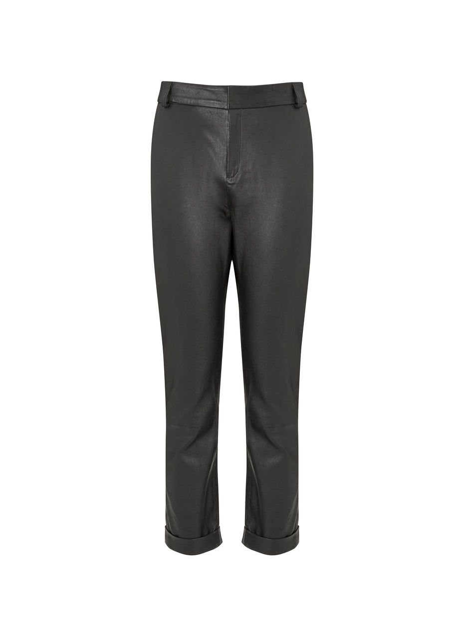 Raven Leather Trouser