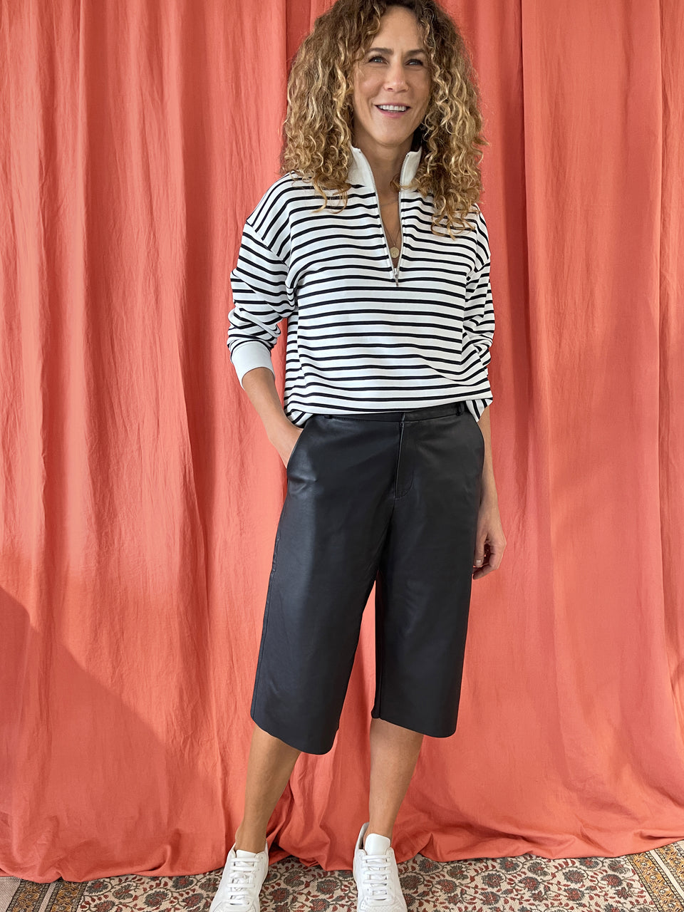 Sacha Leather Culottes