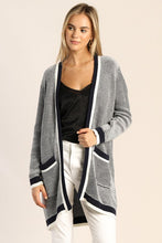 Load image into Gallery viewer, Two-Tone Sweater Cardigan