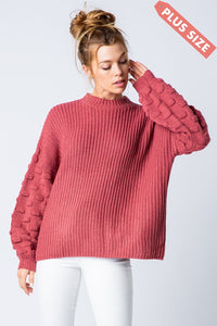 Plus Size Raspberry Dreams Sweater