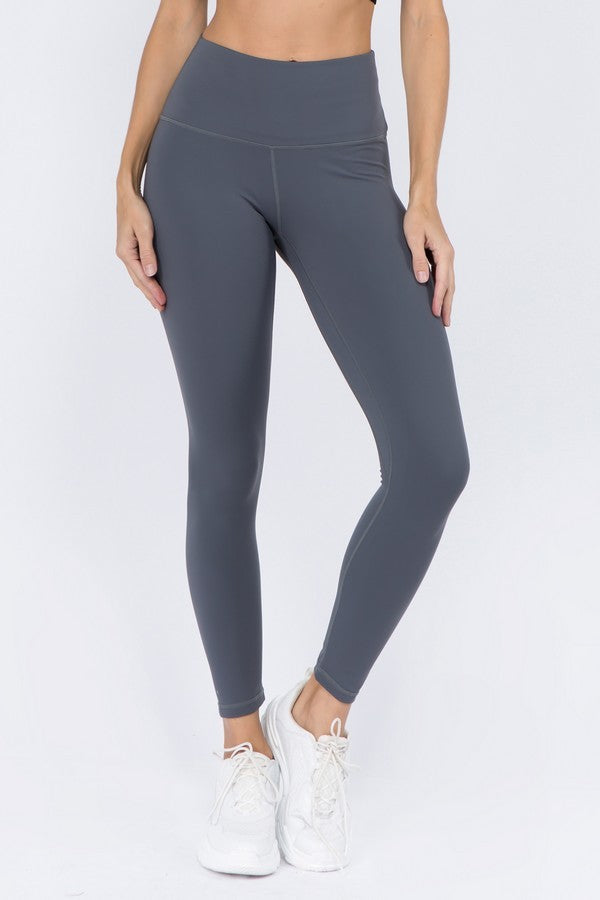 Ultra Soft Buttery Leggings - Grey