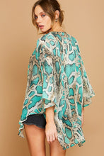 Load image into Gallery viewer, Teal Snake Kimono