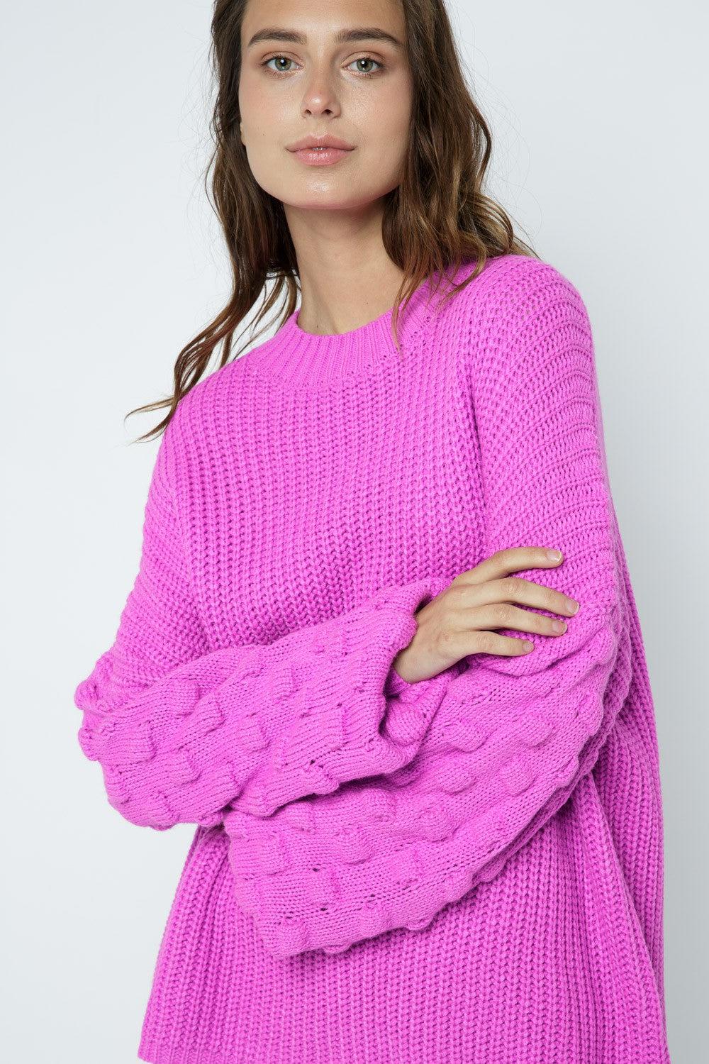 Electric Feel Textured Sweater