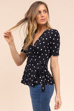 Load image into Gallery viewer, Uptown Girl Polka Dot Top