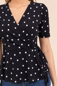 Uptown Girl Polka Dot Top