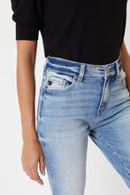 Load image into Gallery viewer, KanCan High Rise Hem Detail Mom Jean