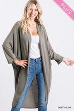 Load image into Gallery viewer, Plus Size Dusty Olive Cardigan