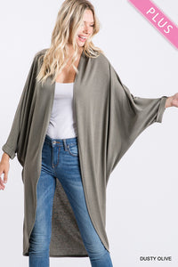Plus Size Dusty Olive Cardigan