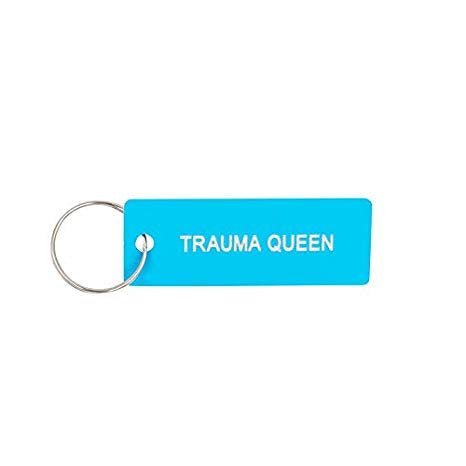Trauma Queen Keychain