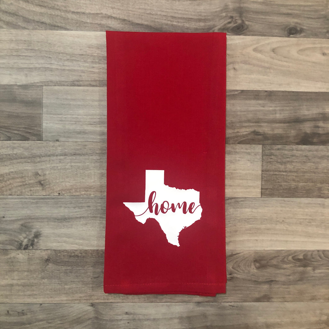 Texas Dish Towel - Red