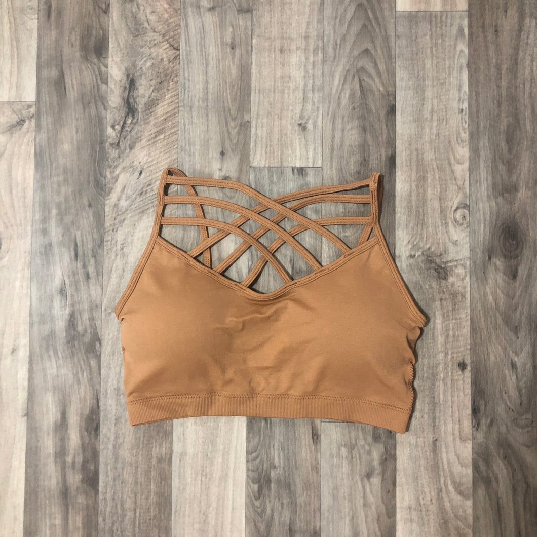 Natural Tan Criss-Cross Bralette