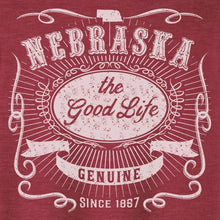 Load image into Gallery viewer, Nebraska, The Good Life Graphic Tee