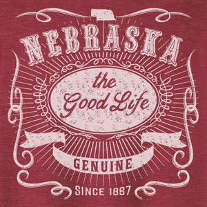 Nebraska, The Good Life Graphic Tee