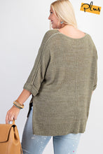 Load image into Gallery viewer, Plus Size Knitted Sweater
