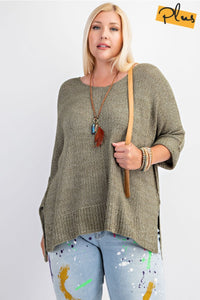 Plus Size Knitted Sweater