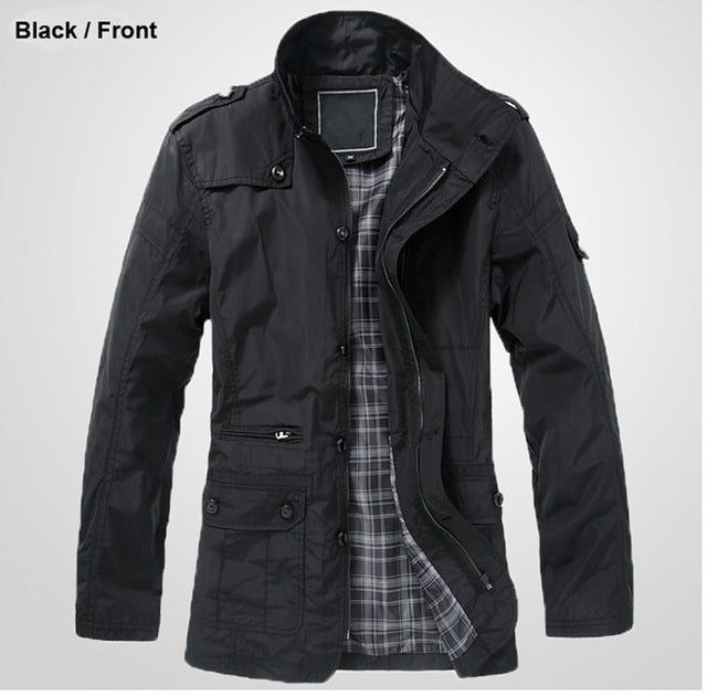 Flannel Lined Military Jacket
