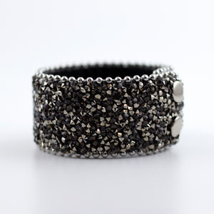 crushed crystal leather wrap