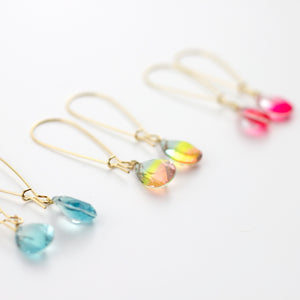 dripping crystals earrings