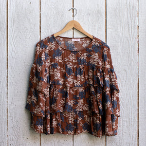 everly floral ruffle top
