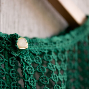emerald city ruffled layer top