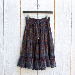 hawthorne gathered floral skirt
