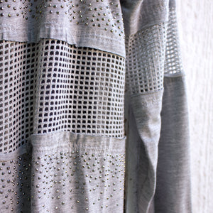 celia heather sparkle cardigan detail