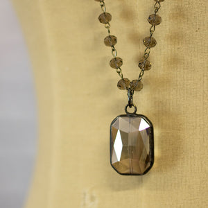elizabeth square crystal necklace