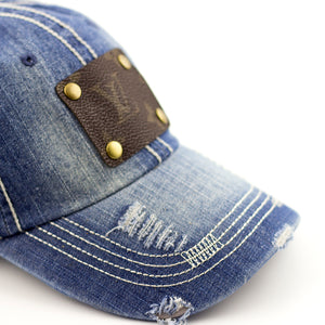 denim ball cap (LV repurposed)