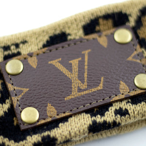 leopard print headband (LV repurposed)