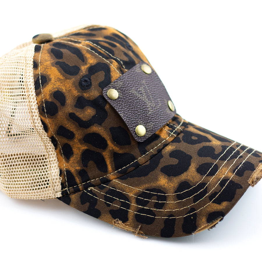 leopard ball cap (LV repurposed)